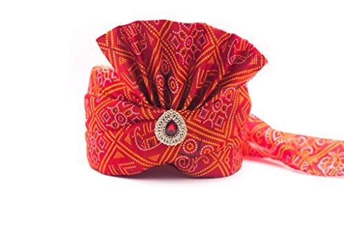 Wedding Groom Head Safa Turban - Velvet (Maroon, 22.5)