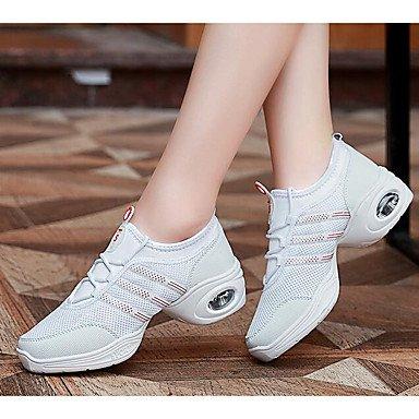 Sneakers tacco Dance bianco CN40 Donnes nero Wuyulunbi UK6 5 pratica Tulle piatto US8 EU39 5 FwIyT4cqE