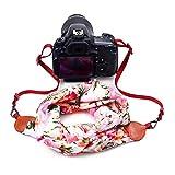 Digital Sangle pour Appareil Photo [Écharpe Série] tissu de soie doux vintage compact sangle appareil photo pour tous les DSLR Nikon Canon Sony Olympus Samsung Pentax Fujifilm.