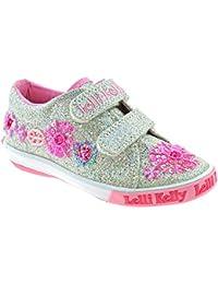 d91fd23f552c6 Lelli Kelly LK9081 (GH01) Silver Glitter Daisy Adjustable Double Strap Shoes-25  (