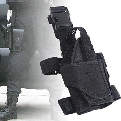 Yunwal Unisex verstellbar Tornado Beinholster Pistolenholster Gürtelbefestigung Tiefziehholster Oberschenkelholster Messer Damen Schulter (Kostüme Pistole Holster Schulter)