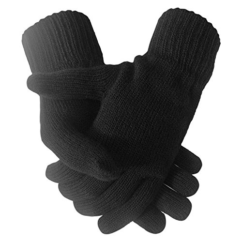 Herren Warm Winter gestrickte thermische Stretch Handschuhe