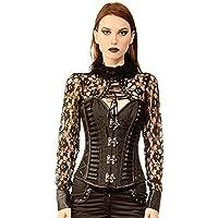 c062e4a1d09 Bustier Basque Shaper Women Sabina Gothic Authentic Steel Boned Overbust  Corset Plus Size Waist Trainer Cincher