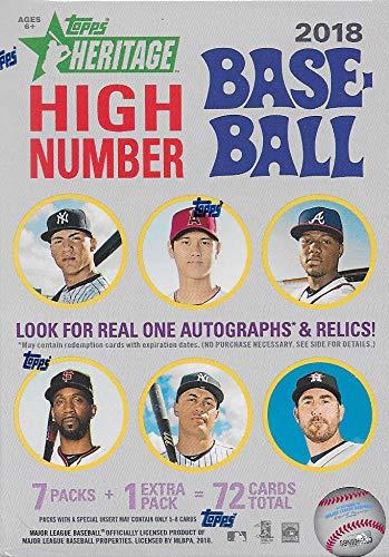 Topps Heritage High Number Series MLB Baseball unopen Blaster Box mit einer Chance für Rookie-Karten und Autogramme plus exklusive 1969 Bazooka All Time Greats Found nur in diesem Produkt gefunden