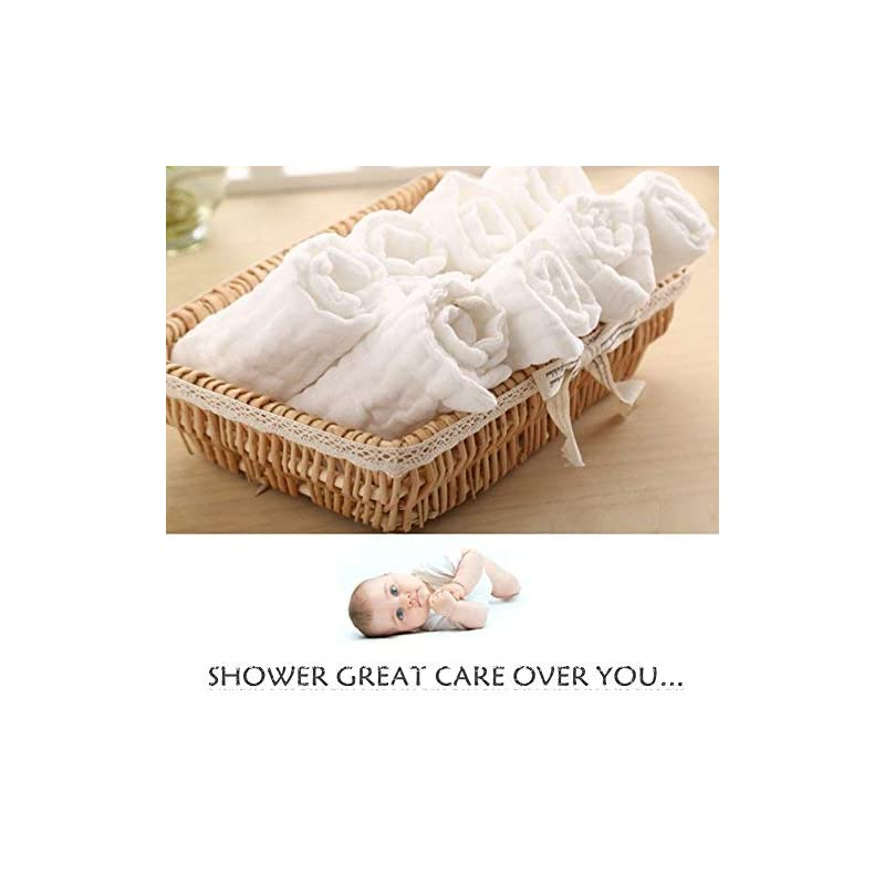 Baby Musselin Waschlappen 10 stk 100/% Nat/ürliche Baumwolle Baby Badet/ücher Baby Weiche Neugeborene Baby Gesichtst/ücher Mehrzweck Mini Baby Handt/ücher Blau/& wei/ß