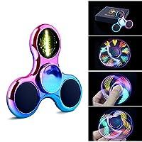 Hand Spinner Fidget Spinner Quimat LED-Leuchten Finger Spielzeug viele Betriebsarten Blinklicht bis EDC zappeln Spielzeug Perfekt für Kind nach hilft Anti-angst Fokussierung Langeweile Druckreduzierer High Speed (Bunte) de Quimat
