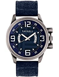 Laurels Euphoria Blue Dial Day and Date Function Wrist Watch - For Men