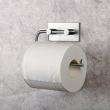 Merisny Porta Carta Igienica da Adesivo 3M in Acciaio Inox, Portarotolo Carta Igienica per Bagno Cucina