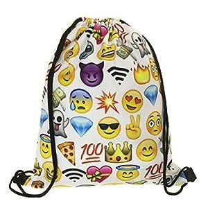 Saco Mochila Emoji Talk 50 x 39 cm