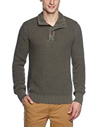 Eddie Bauer 428004 - Pull - uni - Col montant - Manches longues - Homme