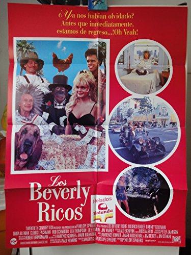Original Mexican Movie Poster Los Beverly Ricos Beverly Hillbillies Diedrich Bader Erika Eleniak
