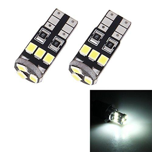 Éclairage de la voiture, 2 PCS T10 / W5W / 194/501 1.5W 90LM 6000K 9 SMD-3528 LED lampe de lecture de lampe de dégagement avec décodeur, DC 12V