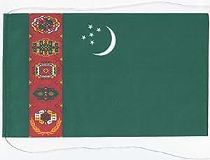 Tischflagge Tischfahne Turkmenistan, ca. 15 x 25 cm