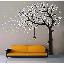 Stencil per pareti camera da letto - Stencil parete albero ...