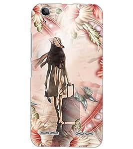 PrintDhaba BUTTERFLY GIRL D-6134 Back Case Cover for LENOVO VIBE K5 PLUS (Multi-Coloured)