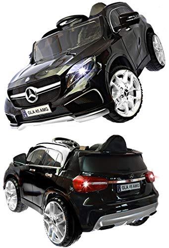 ToyZone Kinderfahrzeug 12V Elektroautos Kinder Elektro Auto Mercedes GLA 45 AMG MP3 USB Ledersitz 2,4 GHZ