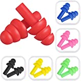 6 Pairs Ear plugs Noise Cancelling Reusable Earplugs for Sleeping and Swimming, 6