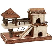 Casa para hámster con elementos para trepar 37 x 21 x 25 cm