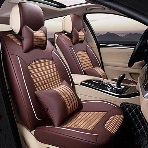 A Car mats DD EIS Seide 3D Auto Vier Jahreszeiten Kissen Universal Auto Sitzbezug, Brown,Brown