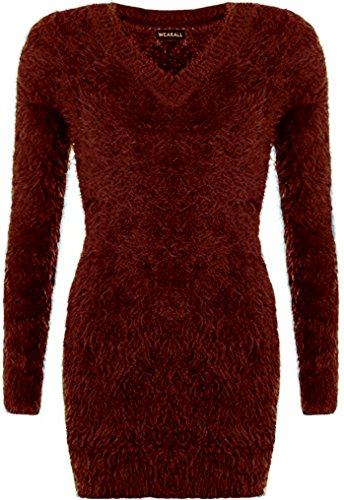 SSoul - Sweat-shirt - Femme Taille Unique marron foncé
