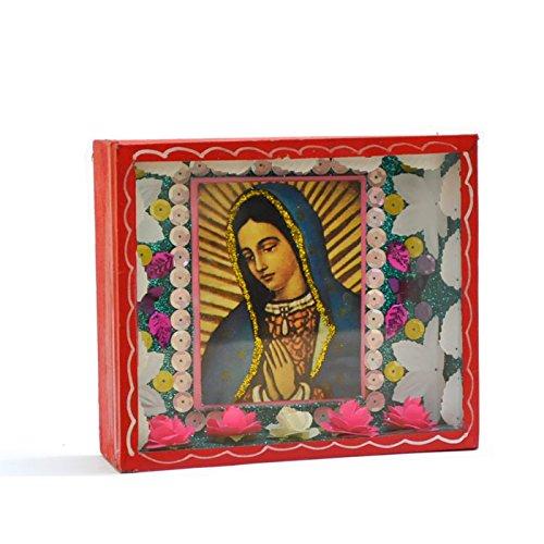 Fantastik - Caja de madera mexicana Virgen de Guadalupe