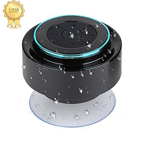 Altavoz Bluetooth Ducha–Resistente al agua altavoz Ducha. Altavoz Bluetooth resistente al agua portátil inalámbrico con built En Micrófono y radio FM. portátil y pares fácilmente con todos los dispositivos Bluetooth