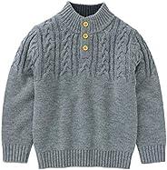 Haokaini Niños Niñas Niño Suéter de Manga Larga Jersey de Punto Suéter Prendas de Punto Cuello Alto Sudadera d
