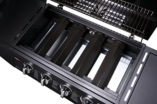 CosmoGrill 4+1 Gas Burner Garden Grill BBQ Barbecue w/ Side Burner & Storage - Black
