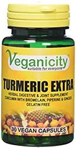 Veganicity Turmeric Extra Health and Well-Being Supplement - 30 Capsules