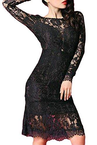 E-Girl femme Noir SY6761-2 robe de cocktail Noir