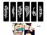 Tribal Tattoo Ensemble de modèles 6Sheet pochoirs Tribal Design
