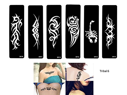 Tribal Tattoo Schablonen Vorlagen 6 Sheet Set Tribal Design