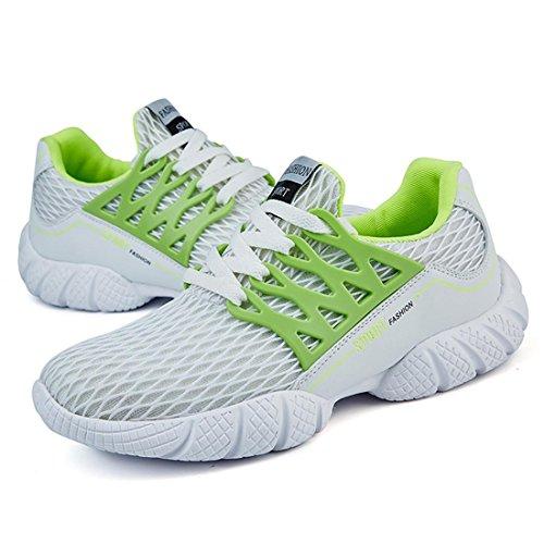 Hommes Chaussures de sport Respirant Chaussures de loisirs Grande taille Chaussures décontractées Mode Chaussures de course TAILLE 39-45 Green