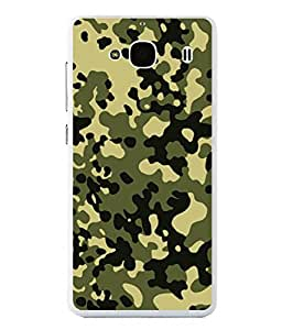 PrintVisa Designer Back Case Cover for Xiaomi Redmi 2 :: Xiaomi Redmi 2S :: Xiaomi Redmi 2 Prime (Khaki Fauji Army Texture Art)