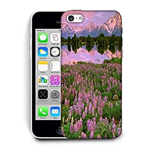 Snoogg Pink Flowers Printed Protective Phone Back Case Cover For Apple Iphone 6+ / 6 Plus