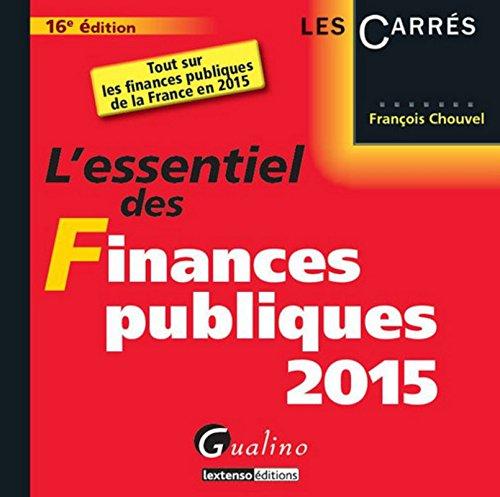 L'Essentiel des finances publiques 2015