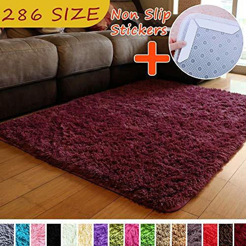 MODKOY alfombras largas para Pasillo Tela Lavable Tejidas Shaggy Ultra Suaves Sheepskin Rug Cordero...