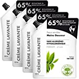 L'Arbre Vert Crème Lavante Recharge Mains Peaux Sensibles Thé Vert 500 ml - Lot de 4
