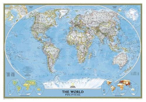 **world political (pf) classic plastifie107.5 cm X 75 cm