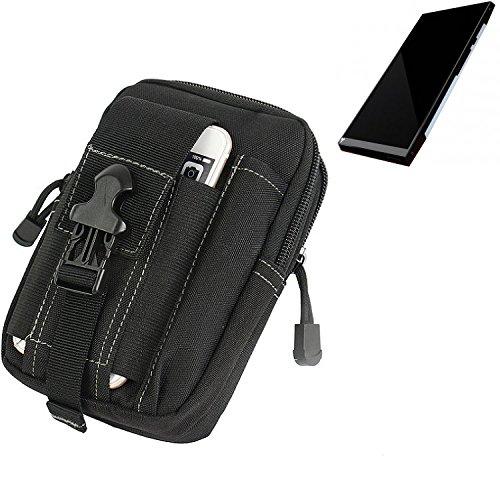 K-S-Trade Gürtel Tasche für Turing Robotic Industries Turing Phone Gürteltasche Schutzhülle Handy Hülle Smartphone Outdoor Handyhülle schwarz Zusatzfächer