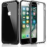 Funda iPhone 7 Plus, KKtick Funda Carcasa Gel Transparente[Choque Tecnología Absorción], Suave Flexible piel Resistente a los Arañazos Silicona TPU Bumper Case Protectora para iPhone 7 Plus(Jet Negro)