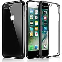 iPhone 7 Plus Custodia, KKtick iPhone 7 Plus Case Cover Sottile Silicone Galvanica TPU, Anti Slip, Antigraffio, Antiurto Bumper pelle protettiva per iPhone 7 Plus (Jet Nero)