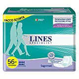 Lines specialist sagomato super/maxi x 56 pezzi - 4 confezioni da...