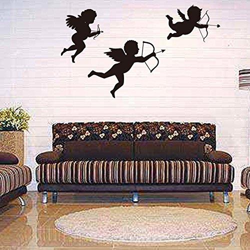 QHJ Aufkleber,Personalisierte Cupid Angel Wandaufkleber Wohnzimmer Kinderzimmer Schlafzimmer Dekor (A) -