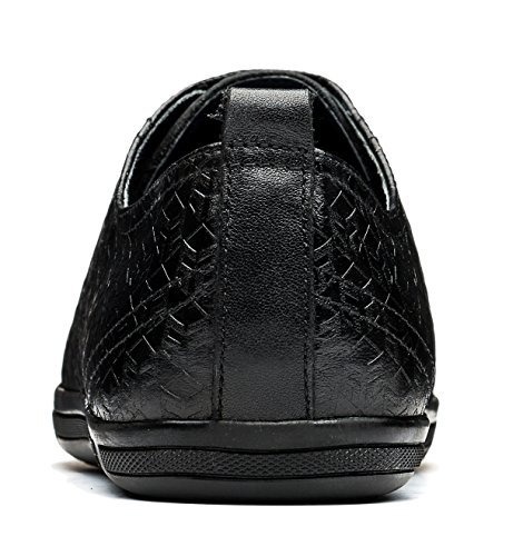 OPP Classic Scarpe da Uomo Vera Pelle Scarpe Black-3