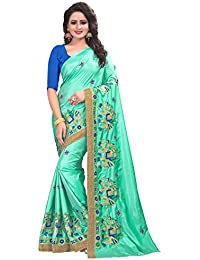 Maa Collections Sarees Women's Paper Silk Embroidered Saree With Blouse Piece(sarees For Women Latest Design_Lord_Gnesha_Saree...