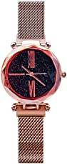 OCJEDEEE 1 STÜCK Frauen Dame Starlight Dial Uhr Sky Star Armbanduhr Edelstahl Mesh Gürtel Einfache Magnetverschluss Uhr