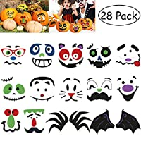 TOYMYTOY Halloween Pumpkin Stickers Halloween Pumpkin Decorations Halloween Party Stickers Trick or Treat Party Favors Goodie Bag Filler 28PCS