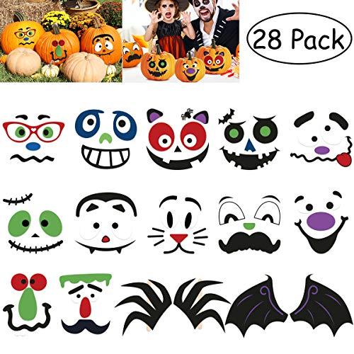 TOYMYTOY 28 Stücke Halloween Kürbis Sticker Kürbis Dekoration Bastel Sticker Süßes Oder Saures Beutel Sticker Party Favors