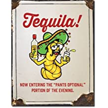 Tequila Pants Optional Cartel de Chapa Placa metal plano Nuevo 31x40cm VS5061-1